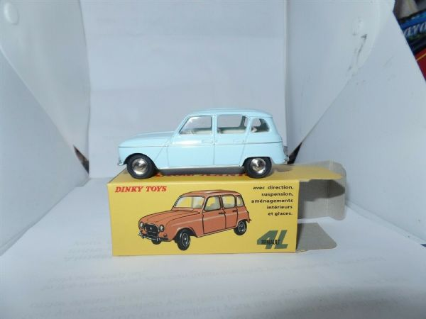 Atlas French Dinky 518 Renault 4L Light Blue